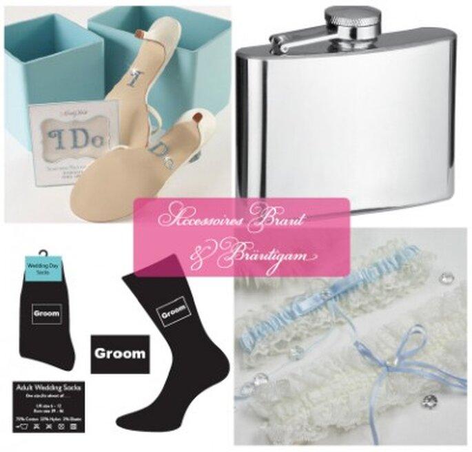 Accessoires für die Braut und den Bräutigam aus dem ja-hochzeitsshop