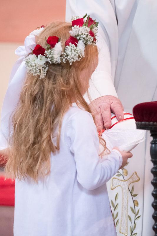couronne de fleurs pour enfant d'honneur