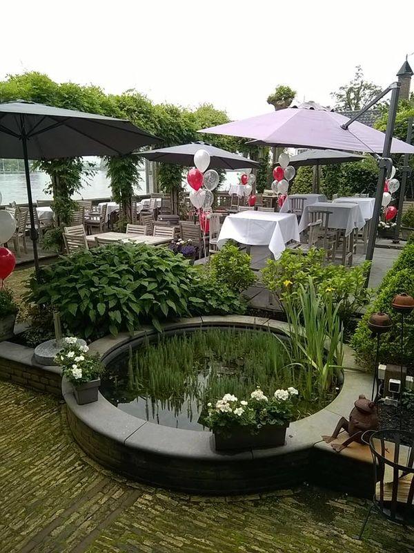 Helium vloerdecoratie voor een bruiloft Zaanstad