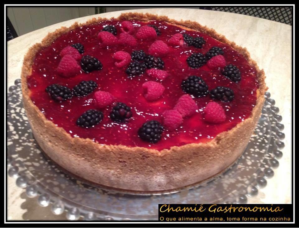 Cheese cake c/ frutas vermelhas