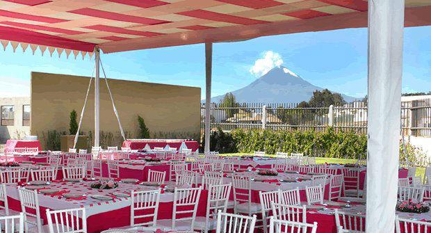 Jardín Hacienda Zarezotla en Cholula Puebla