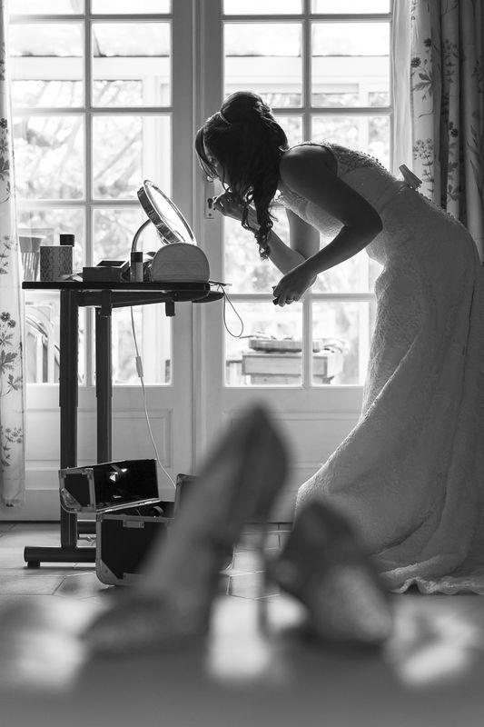 Préparatifs et maquillage de la mariée