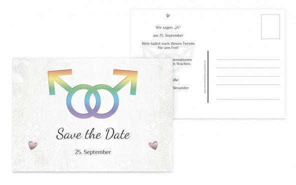 Beispiel: Save-the-Date Karten, Foto: Hochzeitskarten- Paradies.