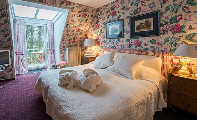 Beispiel: Doppelzimmer, Foto: Landhaus Höpkens Ruh.