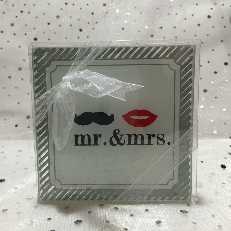 Portavasos x2 - Mr & Mrs
