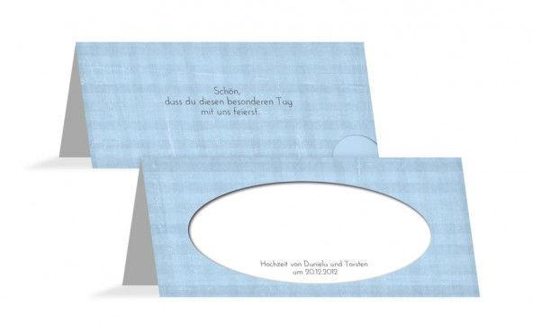 Beispiel: Tischkarten, Foto: Hochzeitskarten- Paradies.