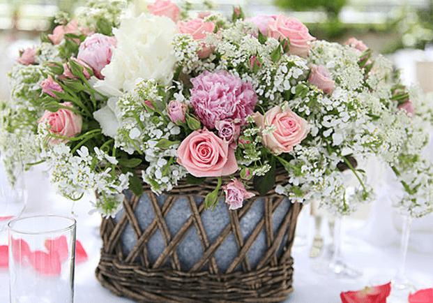 Beispiel: Wunderschöne Blumendekorationen, Foto: Die Alte Gärtnerei.