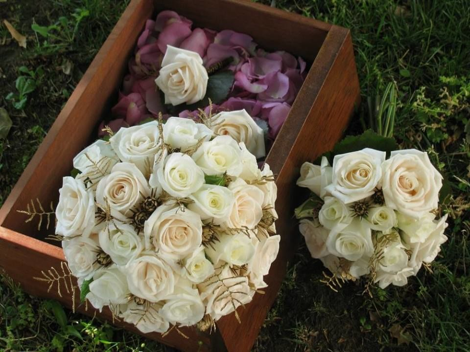 Bouquet de Noiva Marfim Dourado