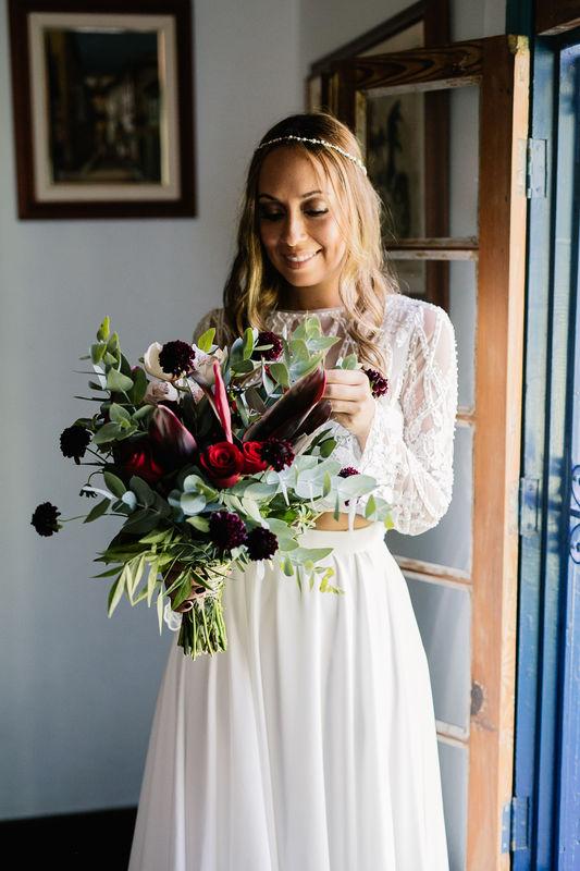 Elopement Wedding Tamara e Augusto na Fazenda Alvamar! Olha esse buquê!