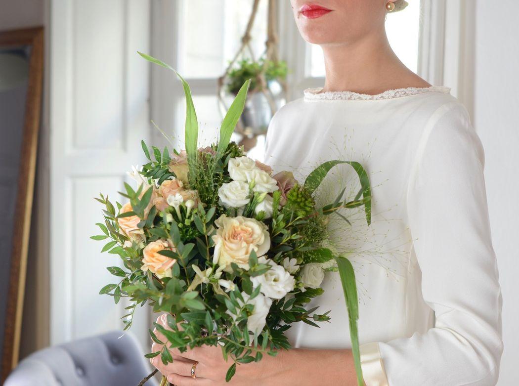 Bouquet de mariée sobre