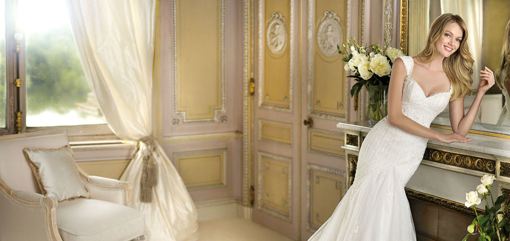 Beispiel: Brautmode (La Sposa), Foto: RENA Braut- und Abendmoden.