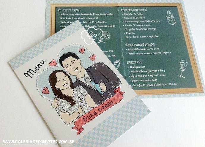 menu de casamento modelo EF