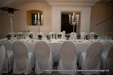 Beispiel: Hochzeitstafel, Foto: Schloss Amerang.