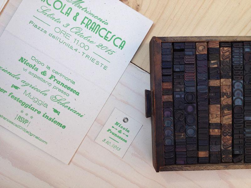 Ecco i caratteri mobili in legno usati per stampare la copertina!