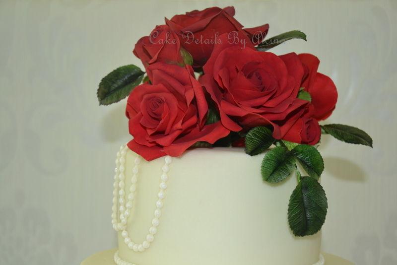 Rosas vermelhas em açúcar