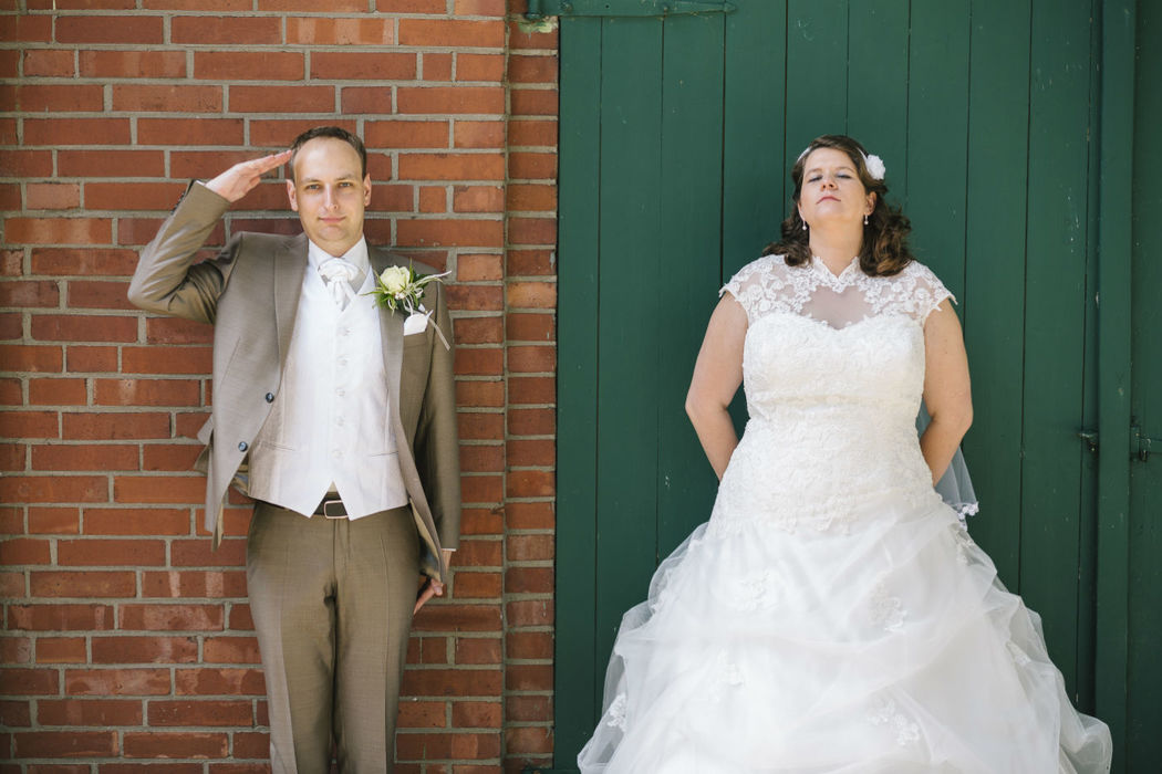 Meine Hochzeitsportraits sind auch manchmal lustig