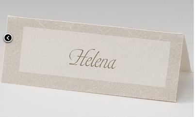 Beispiel: Nameskärtchen, Foto: einladungskarten4you.
