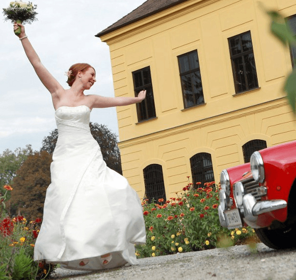 Beispiel: Glückliche Braut, Foto: Jagdschloss Eckartsau.