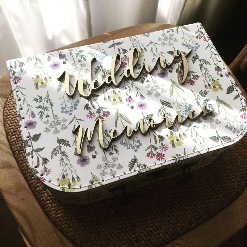 Wedding Memories Box / Suitcase