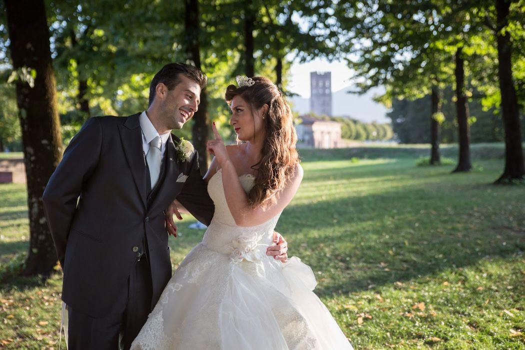 Sposi sulle mura di Lucca