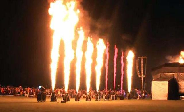 Beispiel: Feuerwerk, Foto: Rothdach Feuerwerk.