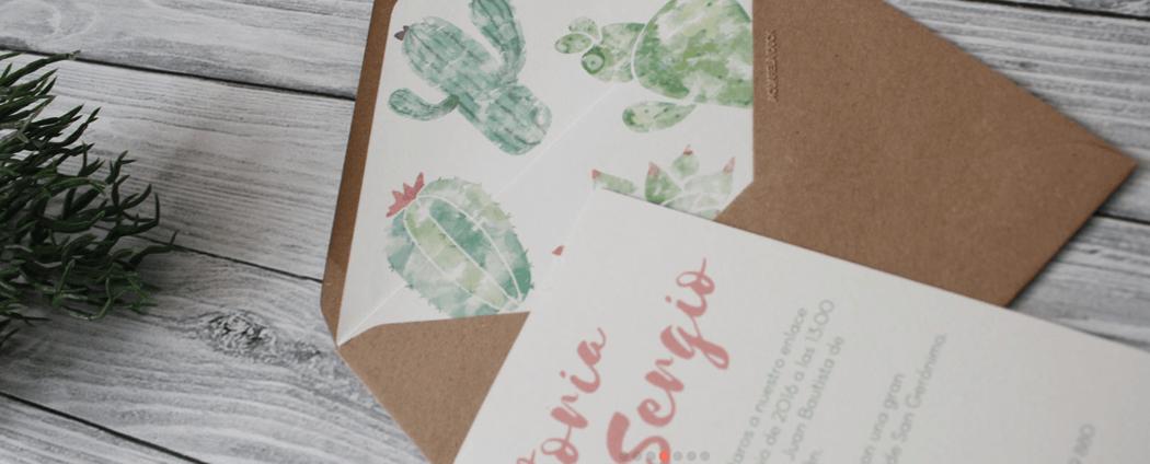 Acuarela Duck - Invitación Cactus