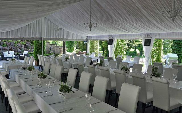 Beispiel: Hochzeitstafel - Außenbereich, Foto: Marcolinis Welt.