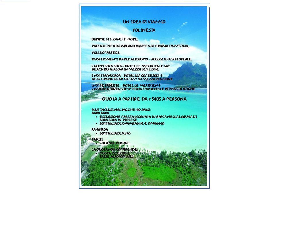 Idea di viaggio di nozze Polinesia Francese