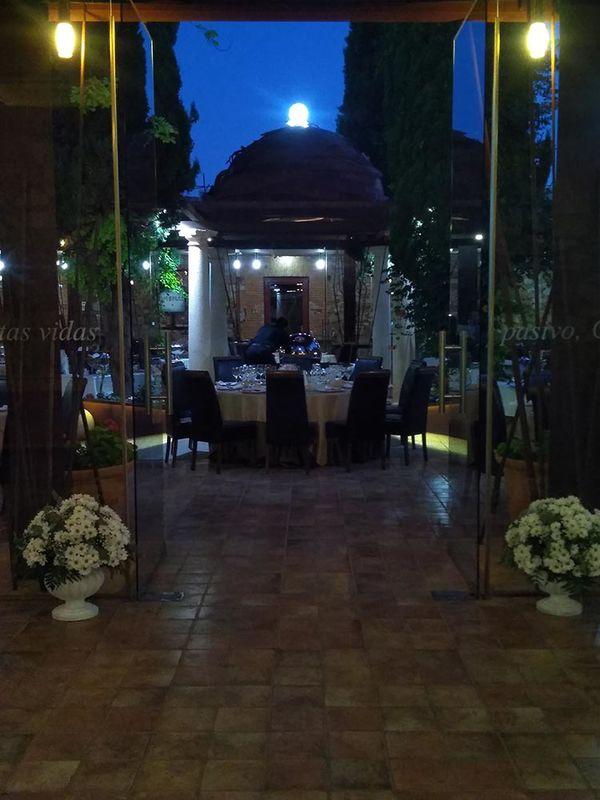 Vista del Patio de lo Diverso montado para la boda