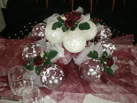 Beispiel: Tischdekoration Ballons, Foto: Balloonia.