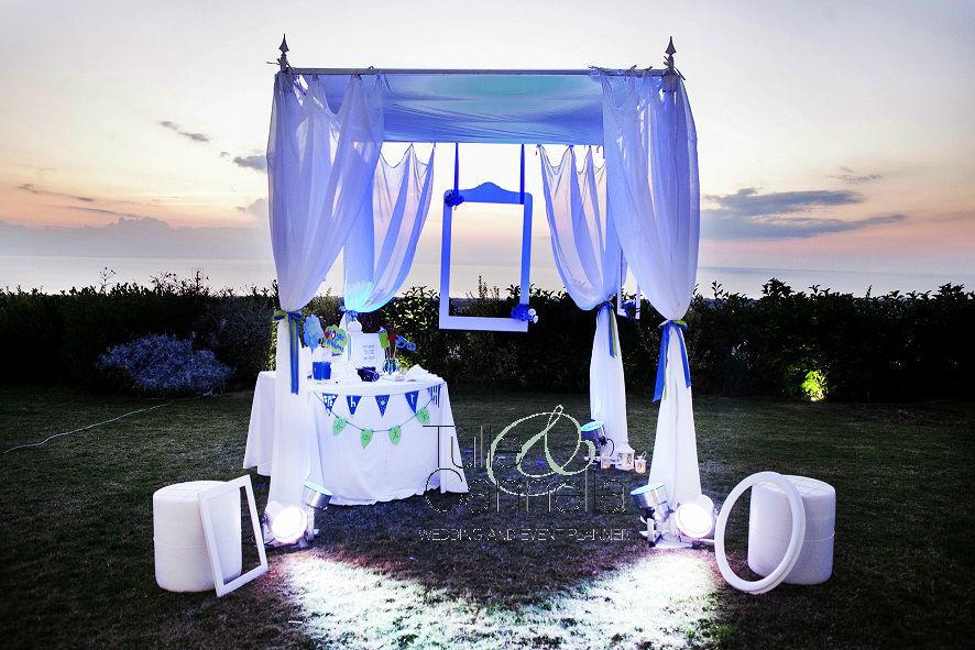 Matrimonio Napoli Photo Booth Sposi Gazebo Tramonto