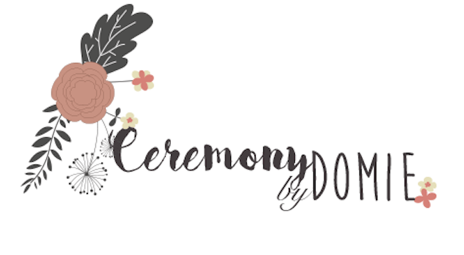 Logo de Ceremony by Domie, votre officiante