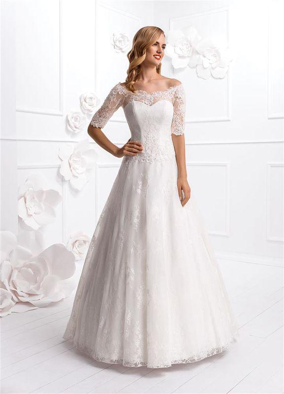 Beispiel: Wunderschöne Brautmode, Foto: Braut Atelier Blendel.