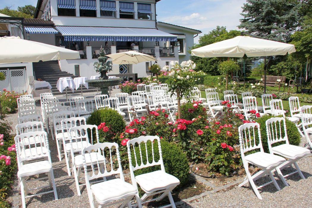 Beispiel: Trauungszeremonie, Foto: Restaurant Waldmannsburg.