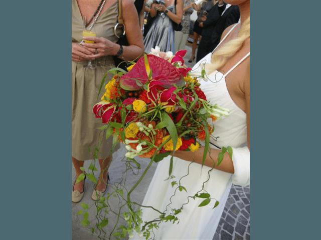 Beispiel: Blumen für den schönsten Tag, Foto: Blumenhandwerk Alexander Muhr.