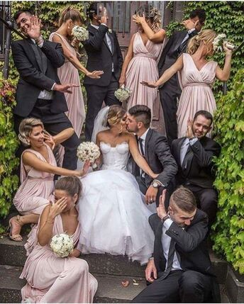 The rainbow factory wedding