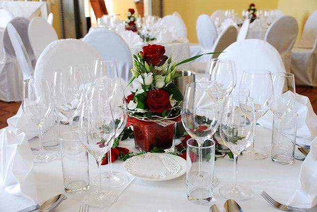 Beispiel: Tischdekoration, Foto: Villa Toscana.