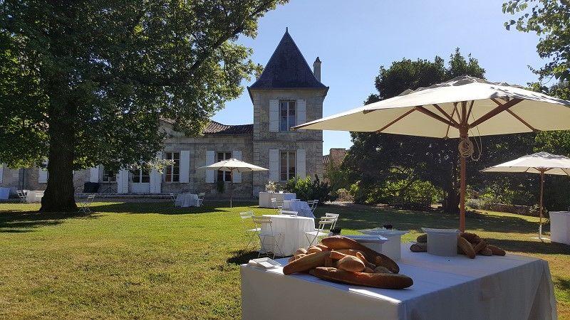Château La Hitte Cocktail dans le jardin