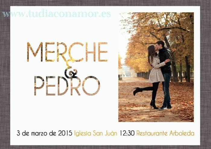 Invitación de boda con foto