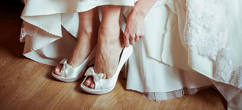 Beispiel: Ihre Brautschuhe mit Stil, Foto: Paradox London.