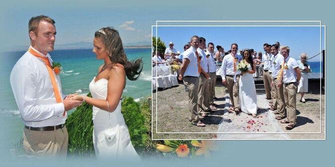 Trauung am Strand in Griechenland!