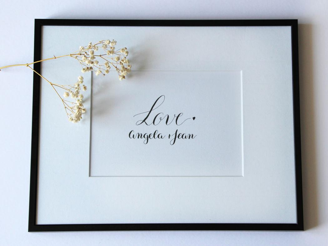 Calligraphique : papeterie calligraphiée de mariage