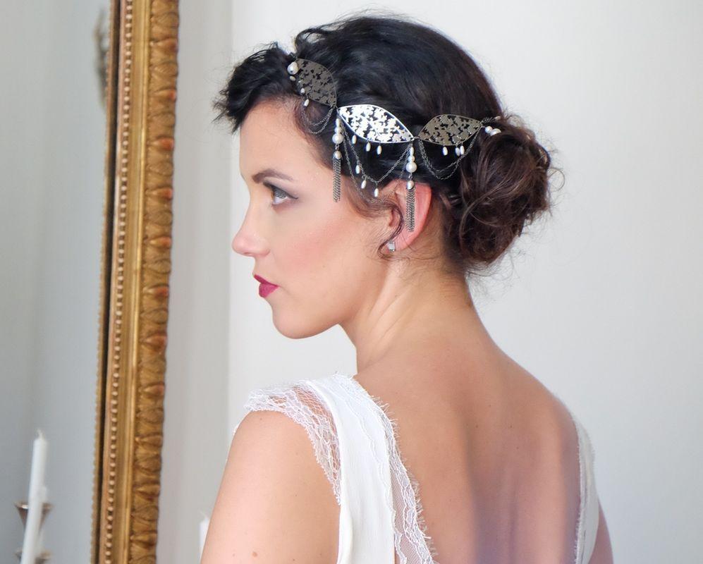 Lucie Fouquet headband Aude et robe Chloé photographe : : Fabien Wack