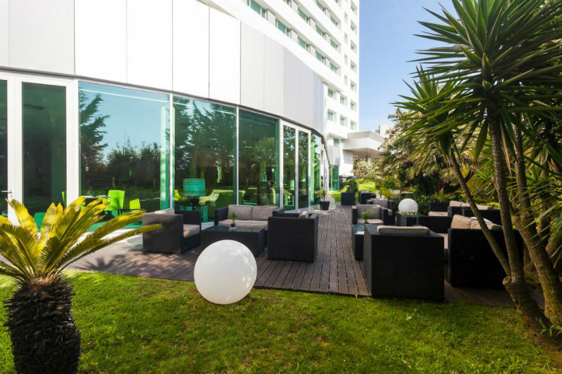 Esplanada e jardim, hotel HF Ipanema Park