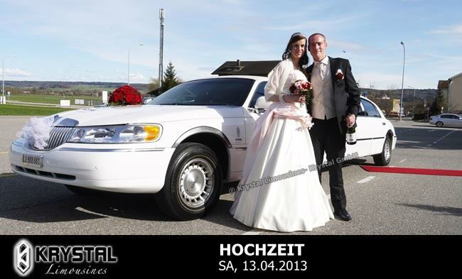Beispiel: Ihr individuelles Hochzeitsauto, Foto: Krystal Limousines.