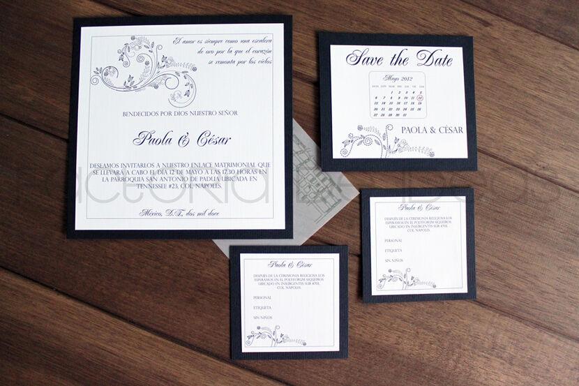 Invitación elegante y formal, rompiendo con los esquemas de la invitación tradicional