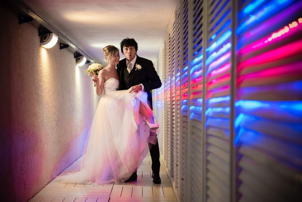 Ritratto sposi, fotografia divertente