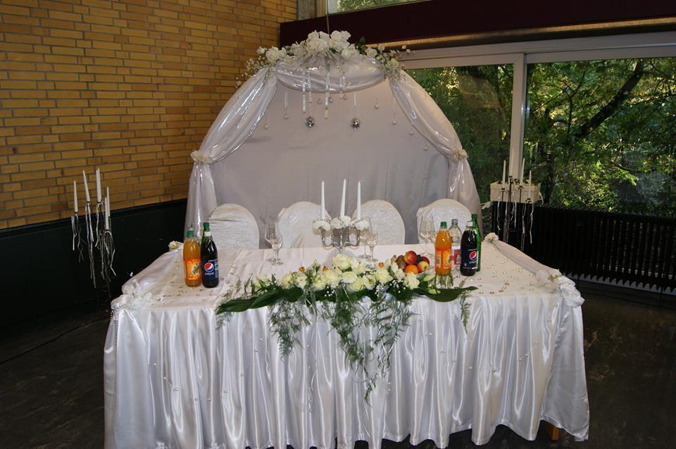 Beispiel: Hochzeits-Tischanordnung, Foto: Cantína.