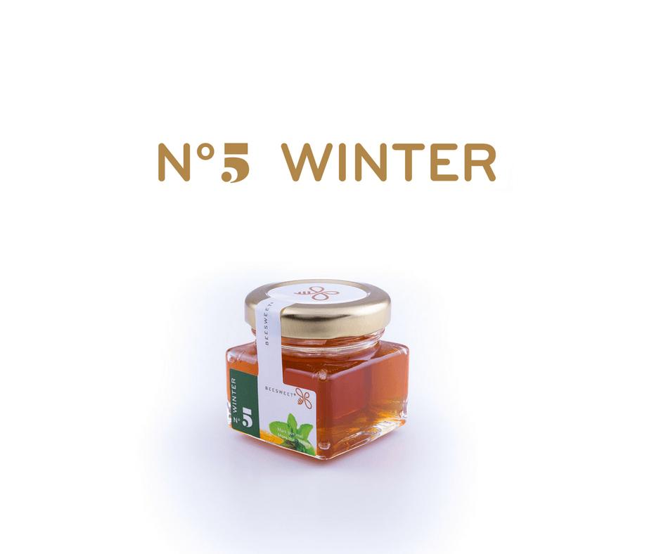 Requintado Frasco de 40gr de Mel aromatizado Beesweet - N. 5 Winter - Sabor menta
