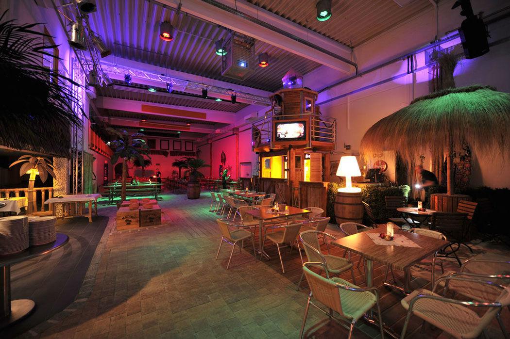 Beispiel: Innenraum, Foto: Gestrandet Indoor Beachclub Augsburg.